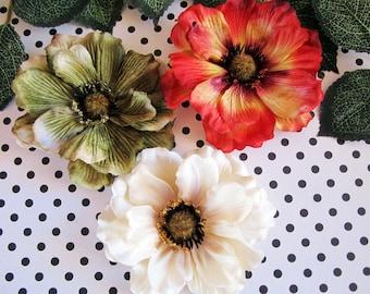 Fall Flowers Hair Clip, Fall Hair Clip, Autumn Hair Clip