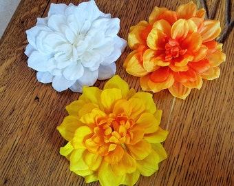Small Dahlia Hair Clip, Dahlia Hair Flower, Assorted Floral Clips