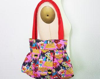 Small Girl Super Hero Handbag, DC Comic Purse, Wonder Woman Purse