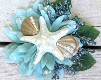Mermaid Hair Clip, Starfish Hair Clip, Mermaid Hair Accessorie, Pinup Mermaid, Starfish Facinator, Burlesque Accessory, Beach Wedding