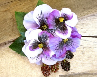 Pansy Berry Hair Clip efe5f477401