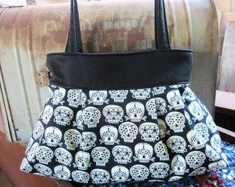 Glow in the Dark Sugar Skull Purse Handbag