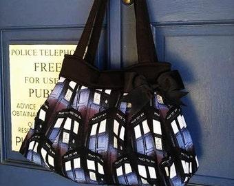 Dr. Who Purse,  Dr. Who Diaper Bag, Tardis Handbag, Tardis Bag, Dr. Who Tote