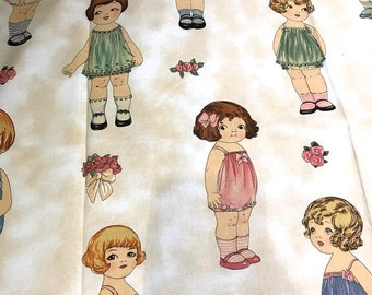 Large Paper Dolls Fabric By Sheryl Rae Marquez  11 Dolls # 28116 WINDHAM PRESENTS