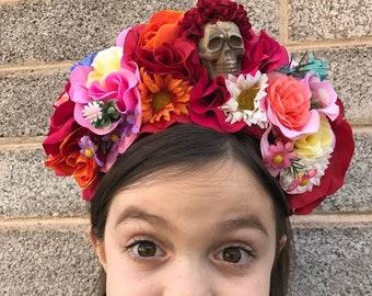 Dia De Los Muertos Headband, Day of the Dead Headpiece, Flower Crown, Day of the Dead Headband