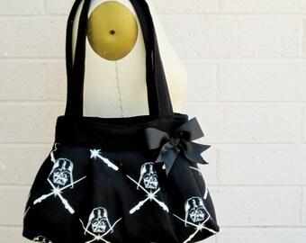 Darth Vader, Darth Vader Glow in the Dark Handbag, Darth Vader Purse, Star Wars Gift,Star Wars Purse, Star Wars Bag, Darth Vader Handbag