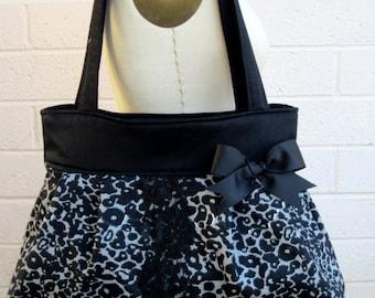Leopard Print Purse, Animal Print Handbag, Cheetah Diaper Bag, Rockabilly Shoulder Bag, Fabric Purse, Gift for Her