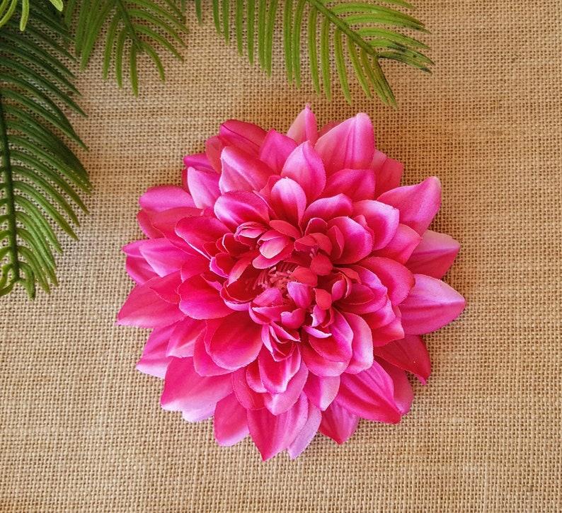 Fuschia Pink Dahlia Hair Clip Pinup Hair Flower Floral Hair image 0