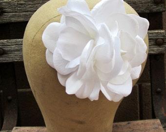 Double White Gardenia Hair Clip, Bridal Gardenia, Pinup Gardenia