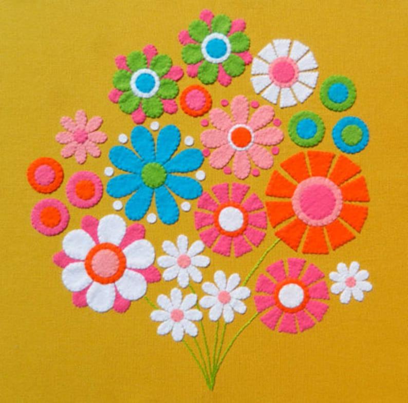 Апрель день, цветы на открытку из фетра