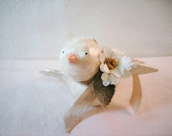 PDF Sweet Paper Clay Snow Bird Ornament Tutorial no shipping cost