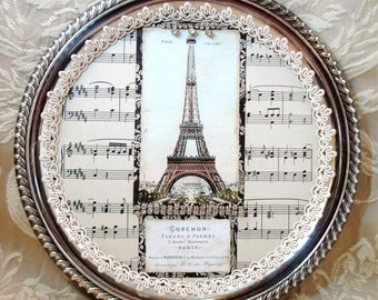 PDF Silver Plate French Collage Tutorial no shipping cost