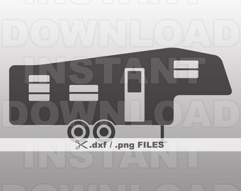 Fifth Wheel RV Camper DXF File5th Commercial Personal Use Vector Art For CricutSilhouette Cameoiron On Heat Transfer Vinyl