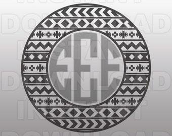 Aztec Monogram Svg Etsy