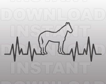 Heartbeat Line Art : Horse heartbeat etsy