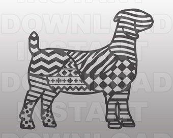 Show Boer Goat Zentangle Wild Pattern SVG File 551ff70a5