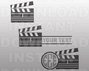 Movie Clapper Svg Etsy