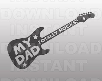 Dads Guitar Svg Etsy