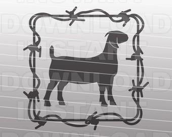 Barbed Wire Boer Goat SVG File 0ebd341fb