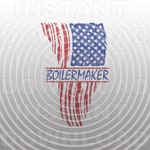 Patriotic Boilermaker Distressed Tattered American USA Flag SVG File -Vector Art Commercial/Personal Use- Cricut,Silhouette,Cameo,Vinyl Cut
