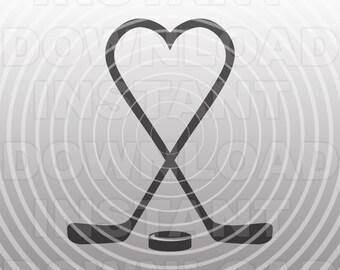 Hockey Heart Svg Etsy