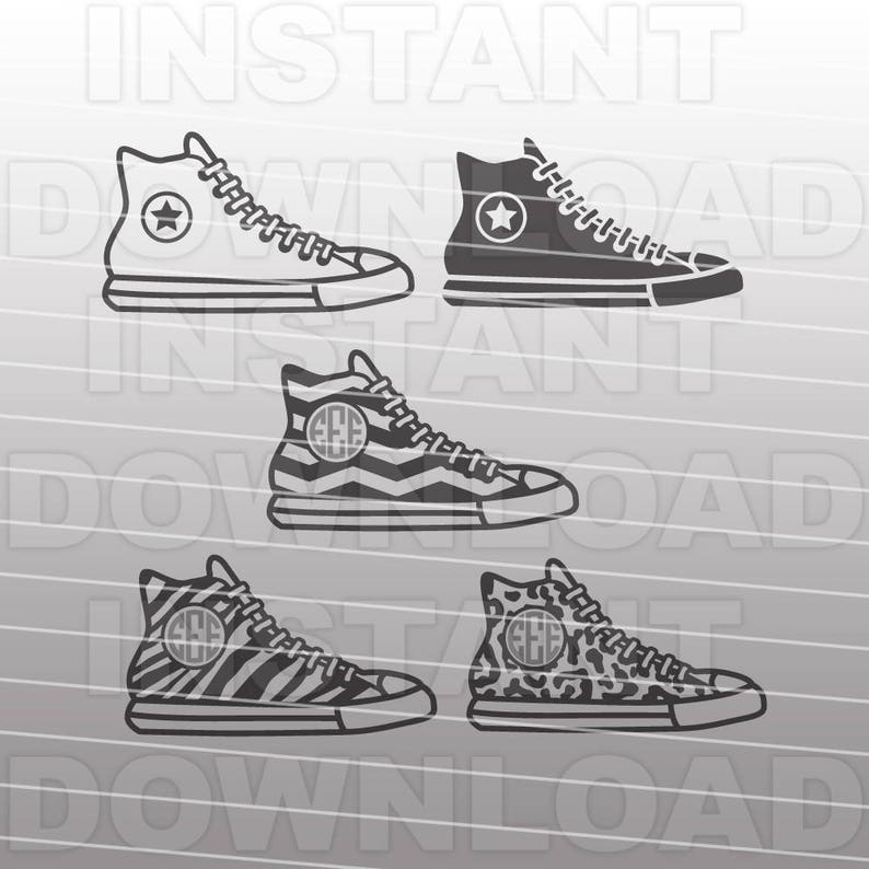 0415afd59a09 Converse Shoes SVG File Fashion SVG File Commercial
