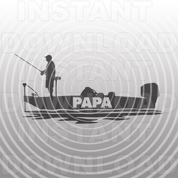Download Papa Bass Boat Svg Filegrandpa Fishing Svg Vector Art Etsy