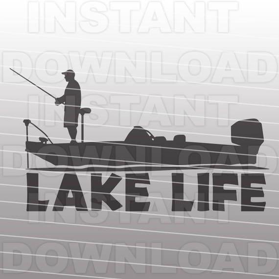 Download Bass Boat With Lake Lifebass Fishing Svgfisherman Svg Vector Etsy
