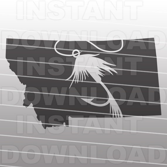 Download Montana State Fly Fishing Svg File Commercial Personal Use Etsy