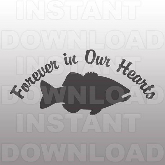 Download Bass Fisherman Memorial Svg Filelarge Mouth Bass Memorial Svg Etsy