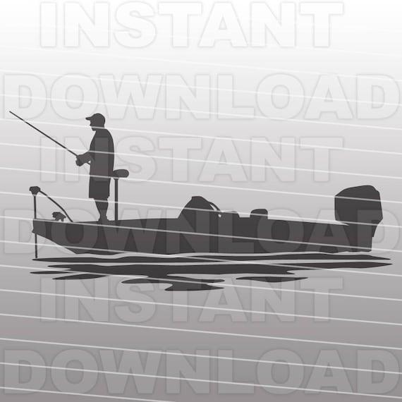 Bass Boat SVG File Bass Fishing SVG File Fisherman SVG   Etsy