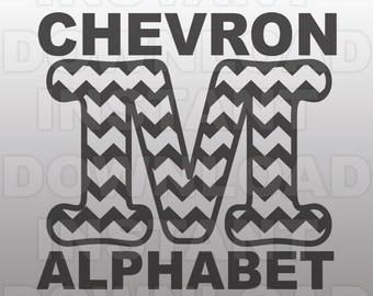 Chevron Font SVG,Chevron Letter SVG set,Monogram SVG-Cutting Template-Vector Clip Art for Commercial & Personal Use-Cricut,Cameo,Silhouette