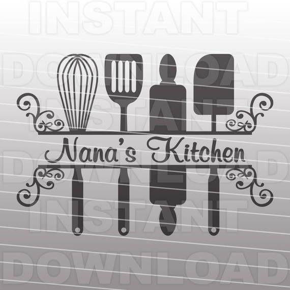 Fancy Decorative Grandma Nanas Kitchen Svg File Commercial Etsy
