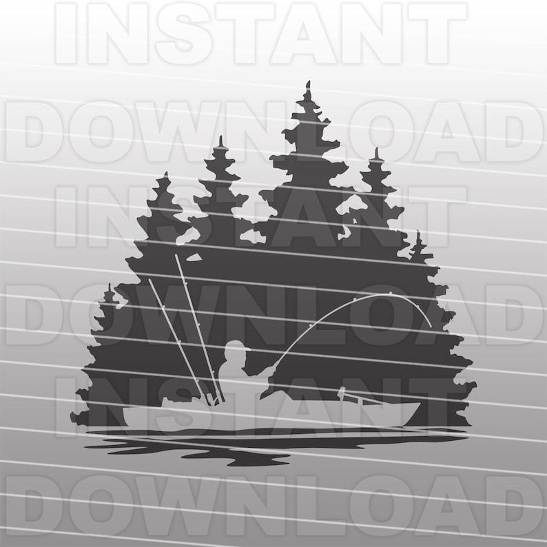 Download Kayak Fishing Scene SVG FileKayaking SVGGuy Kayaking   Etsy