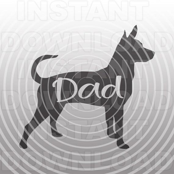 Rat Terrier Dad Svg Filedog Dad Svg Vector Art For Personal Etsy