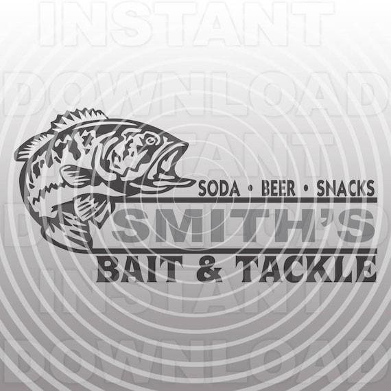 Download Bass Fishing Svg Filebait Tackle Sign Svgfisherman Svg Etsy