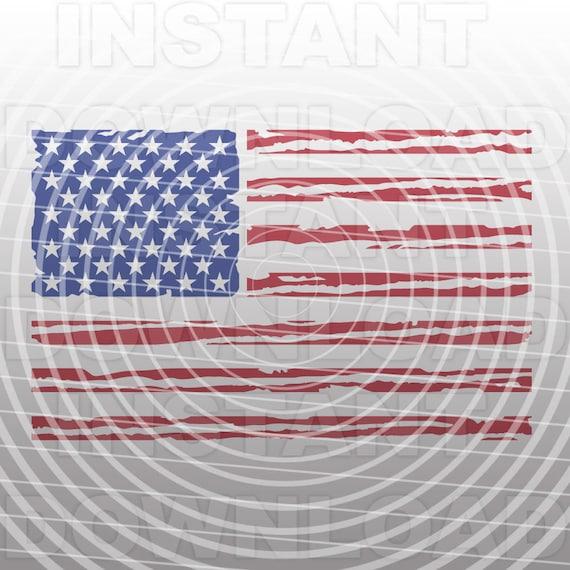 Distressed American Flag Svgusa Flag Svg File Cutting Etsy