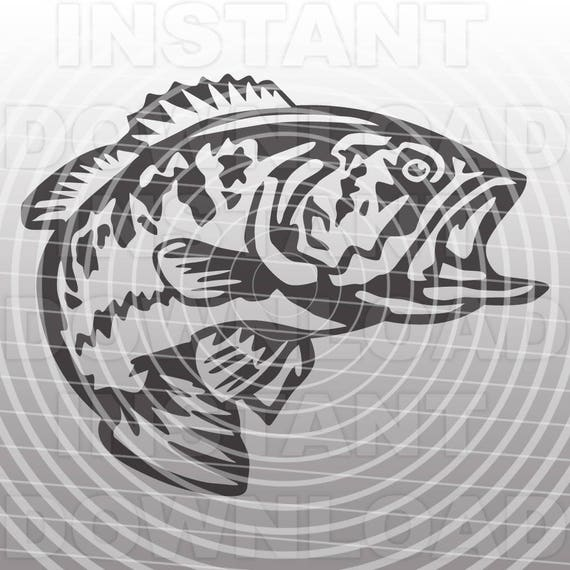 Download Fishing Svg Filebass Svglargemouth Bass Svg Filecutting Etsy