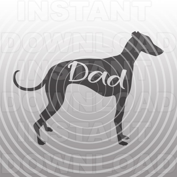 Greyhound Dad Svg Filedog Dad Svgrescue Dog Svg Personal Etsy