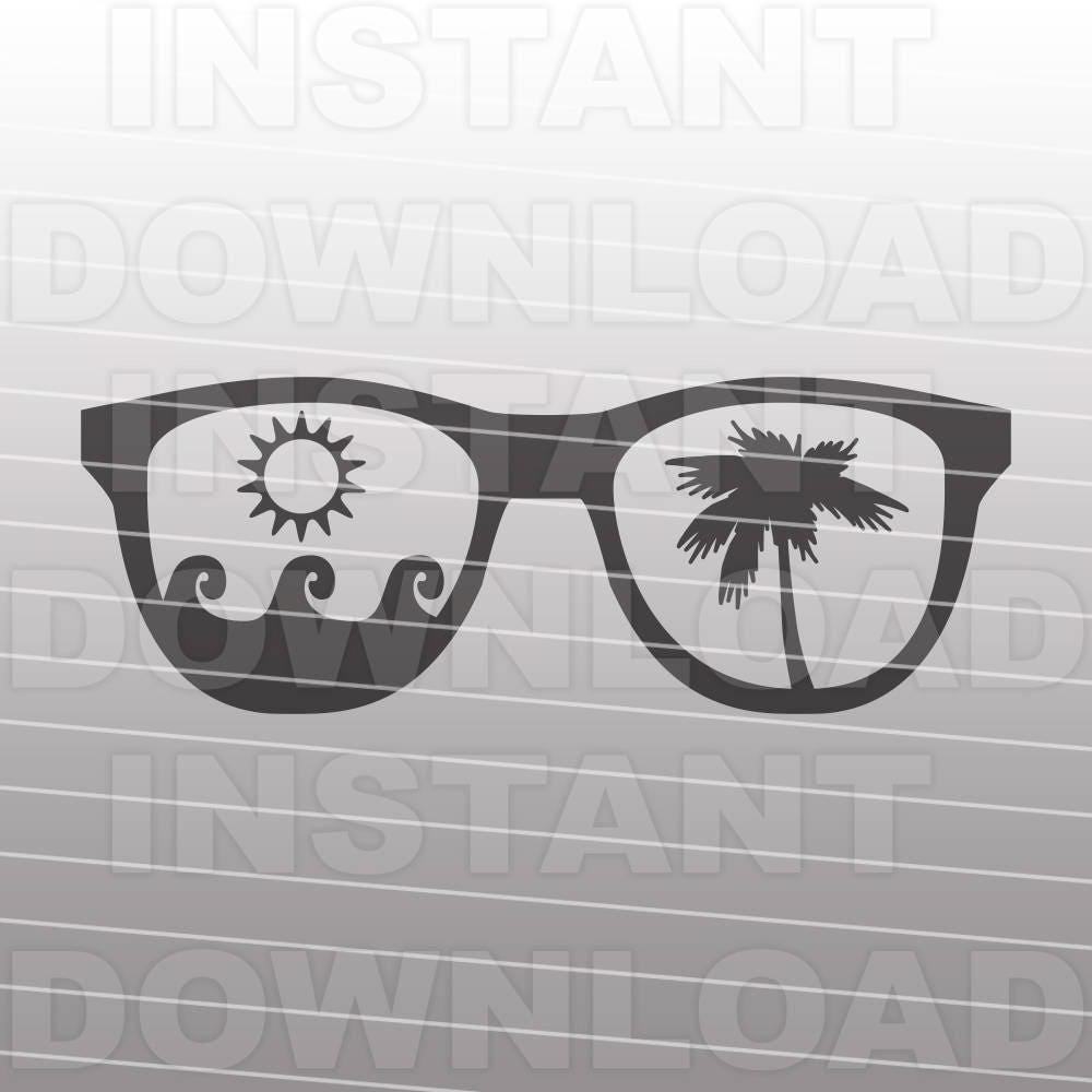 Sunglasses Svg Filetropical Vacation Svgbeach Svg Etsy