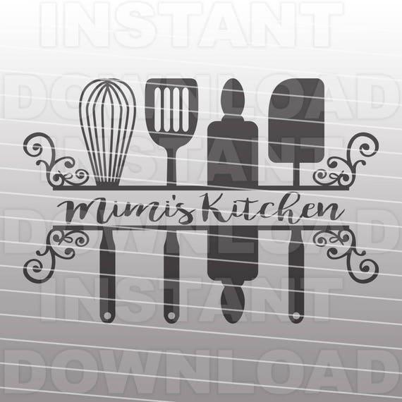 Fancy Decorative Grandma Mimis Kitchen Svg File Commercial Etsy