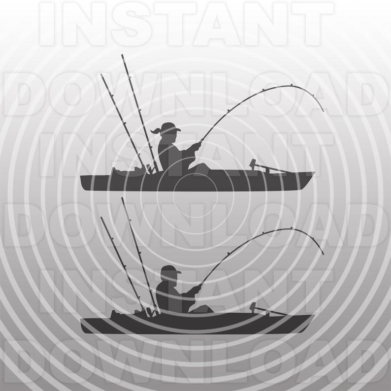 Download Kayak Fishing SVG FileKayaker SVGKayaking svgKayak   Etsy