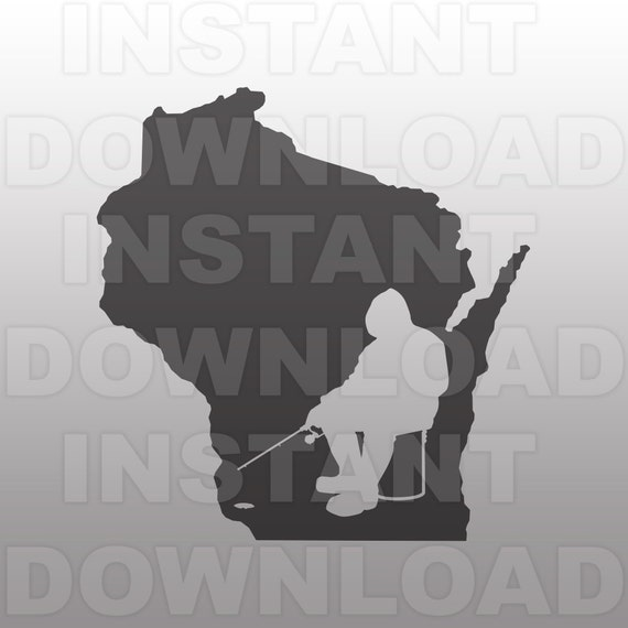 Download Wisconsin Ice Fishing Svg File Cricut Svg Silhouette Svg Etsy