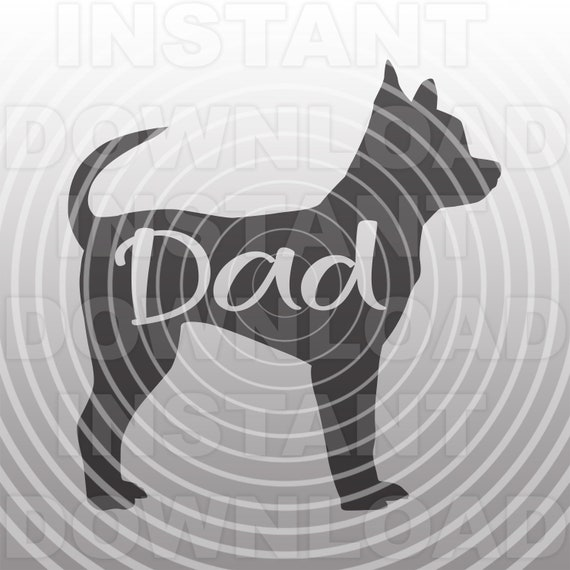 Chihuahua Dad Svg Filedog Dad Svgchiwawa Svg Personal Etsy