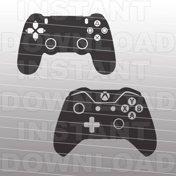 Video Game Controllers Svg File Cutting Template Xbox Playstation Vector Clip Art For Commercial Personal Use Cricut Scal Cameo Decal