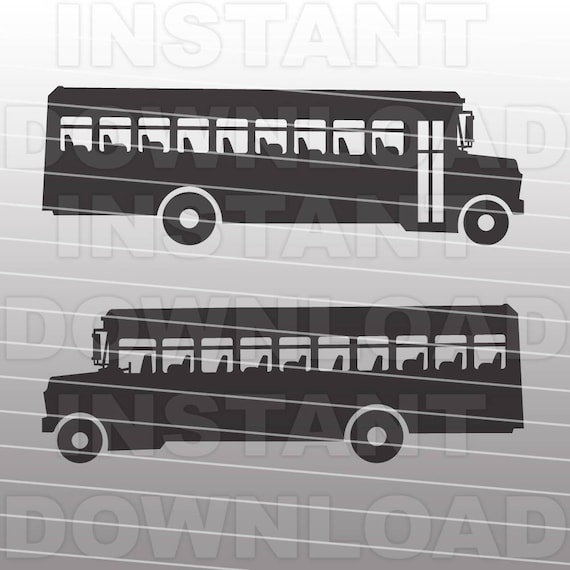 School Bus SVG File-Cutting Template-Vector Clip Art For