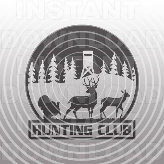 Hunting Club Svg Filehunter Svgdeer Hunting Svgturkey