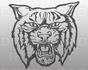 Wildcats Mascot SVG File-Cutting File -Clip Art for Personal Use- Vector art file for Cricut,Cameo,Sizzix,Pazzles,Decal,Stencil