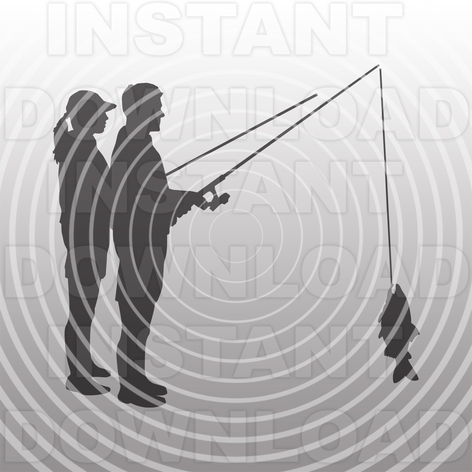 Download Couple Fishing Svg Fileman And Woman Fishing Svg Vector Clip Etsy