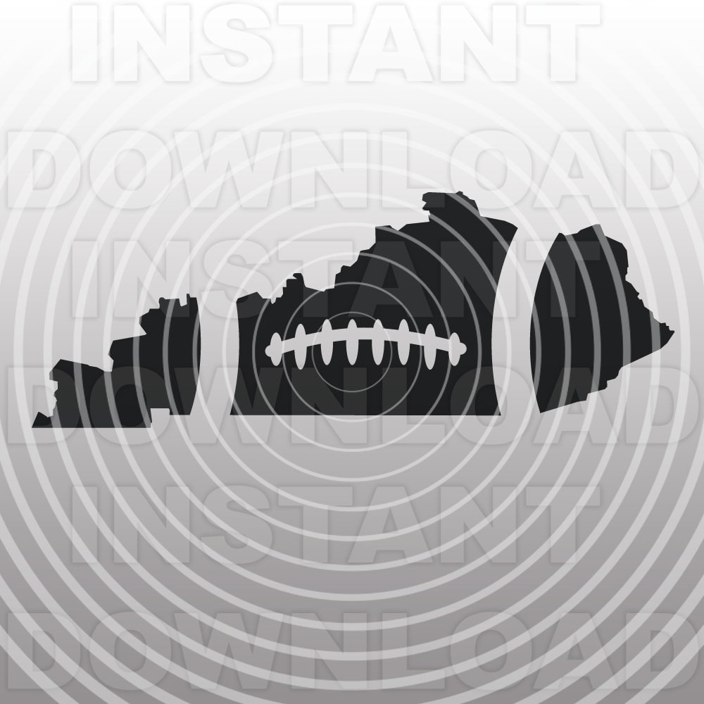 Football Kentucky Outline Svg File Cutting Template Clip Art Etsy